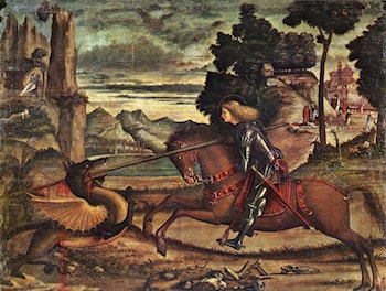 St George and the Dragon [detail: 1] by Vittore Carpaccio
